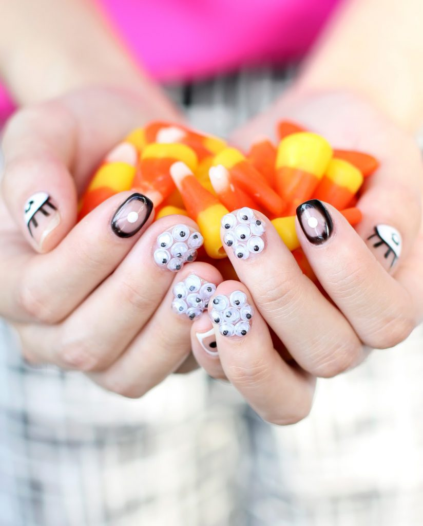 DIY Googly Eye Manicure On Design*Sponge