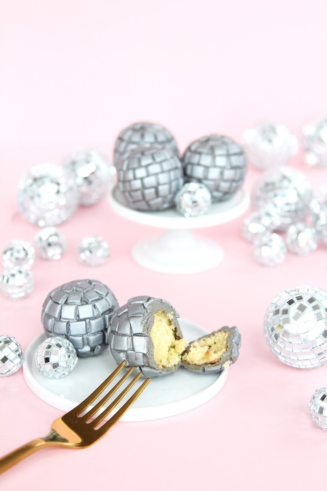 Disco Ball Donut Holes For New Years