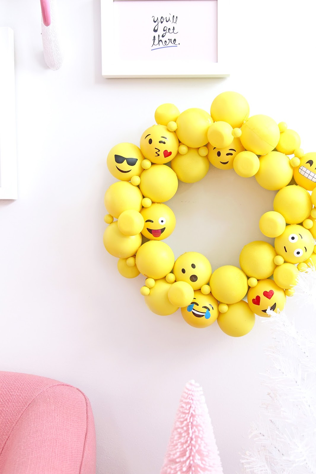 Diy Emoji Ornament Wreath