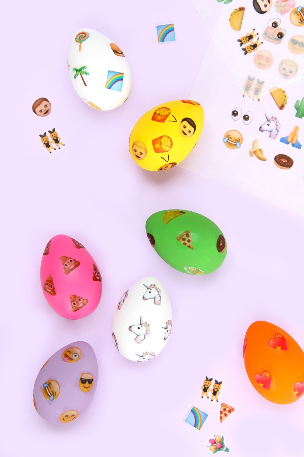 emojified diy emoji patterned easter eggs