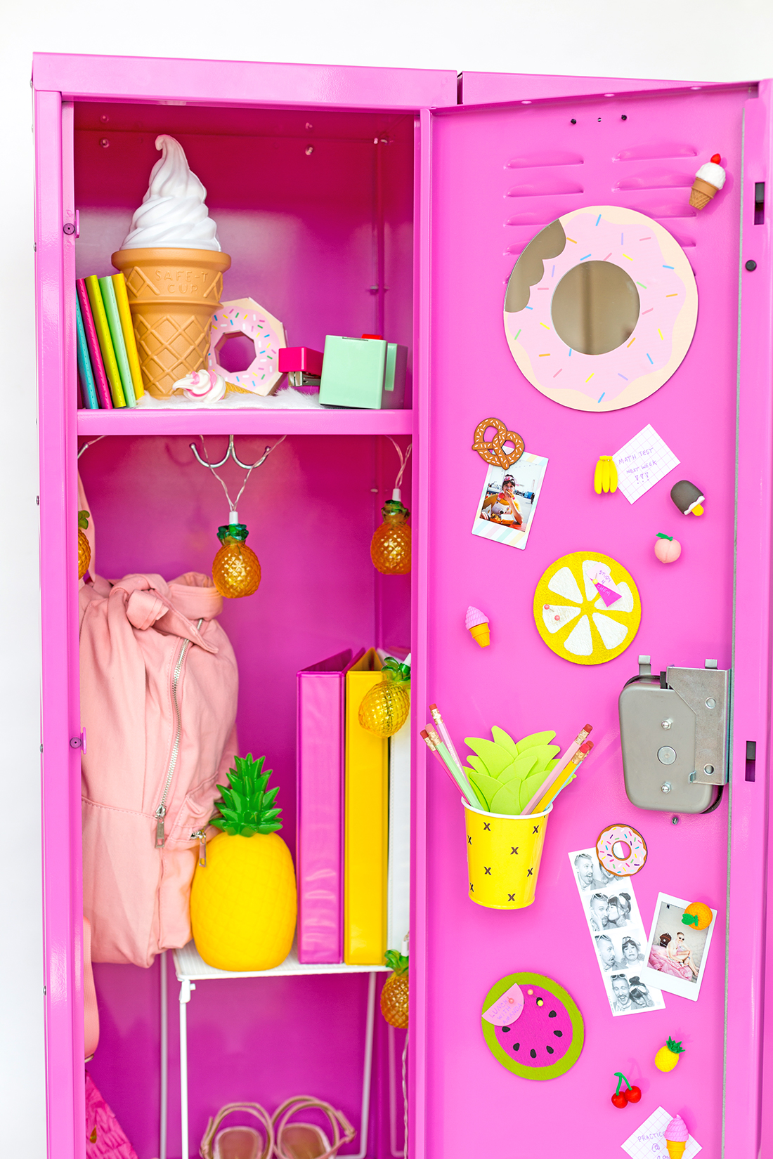 colorful diy locker decoration ideas - Locker Designs Ideas